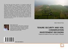 Portada del libro de TENURE SECURITY AND SOIL CONSERVATION INVESTEMENT DECISIONS
