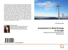 Capa do livro de Investment in Wind Energy in Europe