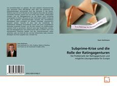 Bookcover of Subprime-Krise und die Rolle der Ratingagenturen