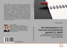 Capa do livro de Die Stellungnahme von Vorstand und Aufsichtsrat gemäß § 27 WpÜG
