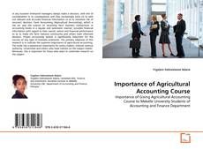 Importance of Agricultural Accounting Course kitap kapağı