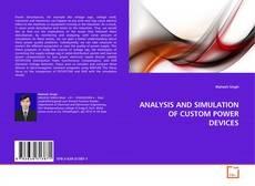Portada del libro de ANALYSIS AND SIMULATION OF CUSTOM POWER DEVICES