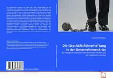 Bookcover of Die Geschäftsführerhaftung in der Unternehmenskrise
