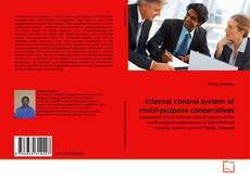 Bookcover of internal control system of multi-purpose cooperatives