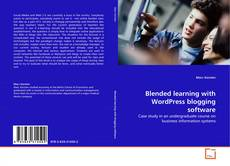 Portada del libro de Blended learning with WordPress blogging software