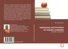 Borítókép a  MANAGING INSTITUTIONS OF HIGHER LEARNING - hoz