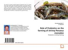 Buchcover von Role of Probiotics on the farming of shrimp Penaeus monodon