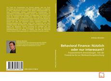 Capa do livro de Behavioral Finance: Nützlich oder nur interessant?