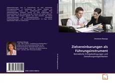 Borítókép a  Zielvereinbarungen als Führungsinstrument - hoz