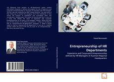 Couverture de Entrepreneurship of HR Departments