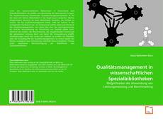 Portada del libro de Qualitätsmanagement in wissenschaftlichen Spezialbibliotheken