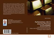 Couverture de Parliamentary role in ensuring financial accountability