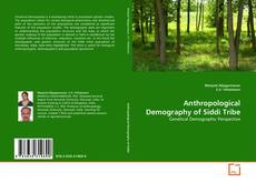 Capa do livro de Anthropological Demography of Siddi Tribe