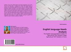 Bookcover of English language Needs Analysis
