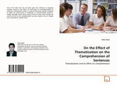 Copertina di On the Effect of Thematization on the Comprehension of Sentences
