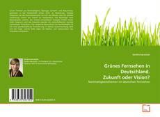 Grünes Fernsehen in Deutschland. Zukunft oder Vision? kitap kapağı