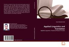 Couverture de Applied Linguistics and Translation