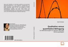 Buchcover von Qualitative versus quantitative Befragung