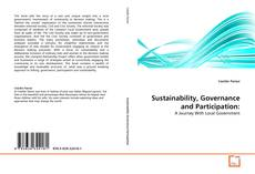 Bookcover of Sustainability, Governance and Participation:
