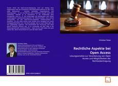 Copertina di Rechtliche Aspekte bei Open Access
