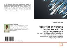 Bookcover of THE EFFECT OF WORKING CAPITAL POLICIES ON FIRMS' PROFITABILITY