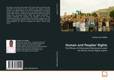 Capa do livro de Human and Peoples' Rights