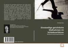 Bookcover of Einstweilige gerichtliche Maßnahmen im Schiedsverfahren