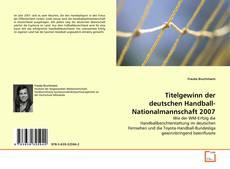 Bookcover of Titelgewinn der deutschen Handball-Nationalmannschaft 2007