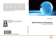 Quick Review of Psychiatry kitap kapağı