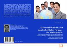 Capa do livro de Materieller Gewinn und gesellschaftlicher Nutzen - ein Widerspruch?