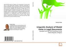 Portada del libro de Linguistic Analysis of Modal Verbs in Legal Documents