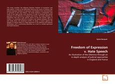 Bookcover of Freedom of Expression v. Hate Speech