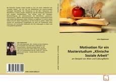 """Borítókép a  Motivation für ein Masterstudium """"Klinische Soziale Arbeit"""" - hoz"""