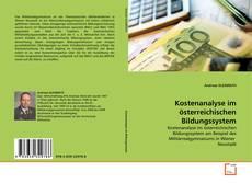 Buchcover von Kostenanalyse im österreichischen Bildungssystem