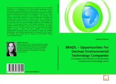 BRAZIL – Opportunities For German Environmental Technology Companies的封面