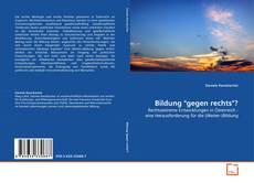 """Bookcover of Bildung """"gegen rechts""""?"""