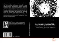 Buchcover von ALL YOU NEED IS WORDS