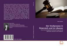 Bookcover of Der Strafprozess in Österreich und im Libanon