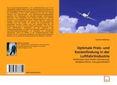 Buchcover von Optimale Preis- und Kostenfindung in der Luftfahrtindustrie
