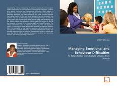 Capa do livro de Managing Emotional and Behaviour Difficulties
