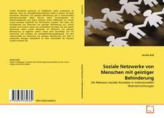 Bookcover of Soziale Netzwerke von Menschen mit geistiger Behinderung