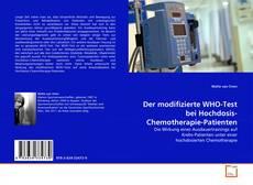 Buchcover von Der modifizierte WHO-Test bei Hochdosis-Chemotherapie-Patienten