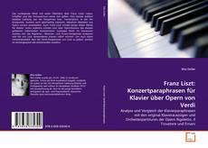 Portada del libro de Franz Liszt: Konzertparaphrasen für Klavier über Opern von Verdi