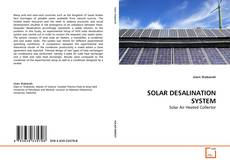 Bookcover of SOLAR DESALINATION SYSTEM