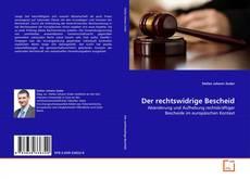 Bookcover of Der rechtswidrige Bescheid