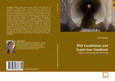 Portada del libro de PhD Candidates and Supervisor Feedback