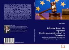 Bookcover of Solvency II und die regionale Versicherungswirtschaft in Österreich