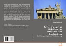 Bookcover of Privatstiftungen im Blickwinkel der österreichischen Gesetzgebung