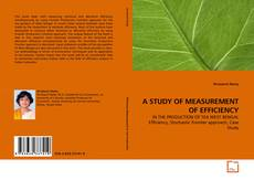 Bookcover of A STUDY OF MEASUREMENT OF EFFICIENCY