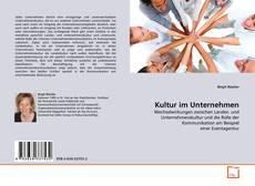 Kultur im Unternehmen的封面